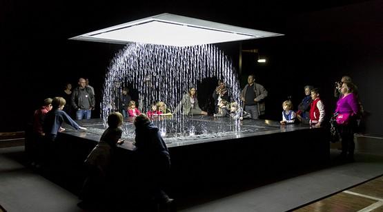 фонтан-принтер на выставке